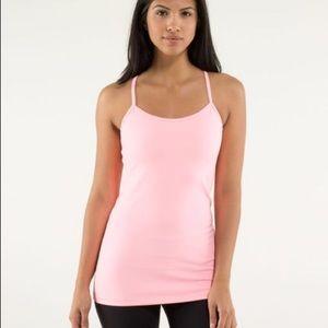 LULULEMON Pastel Pink 'Power Y' Tank Top